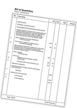rossiter blog bill of quantities